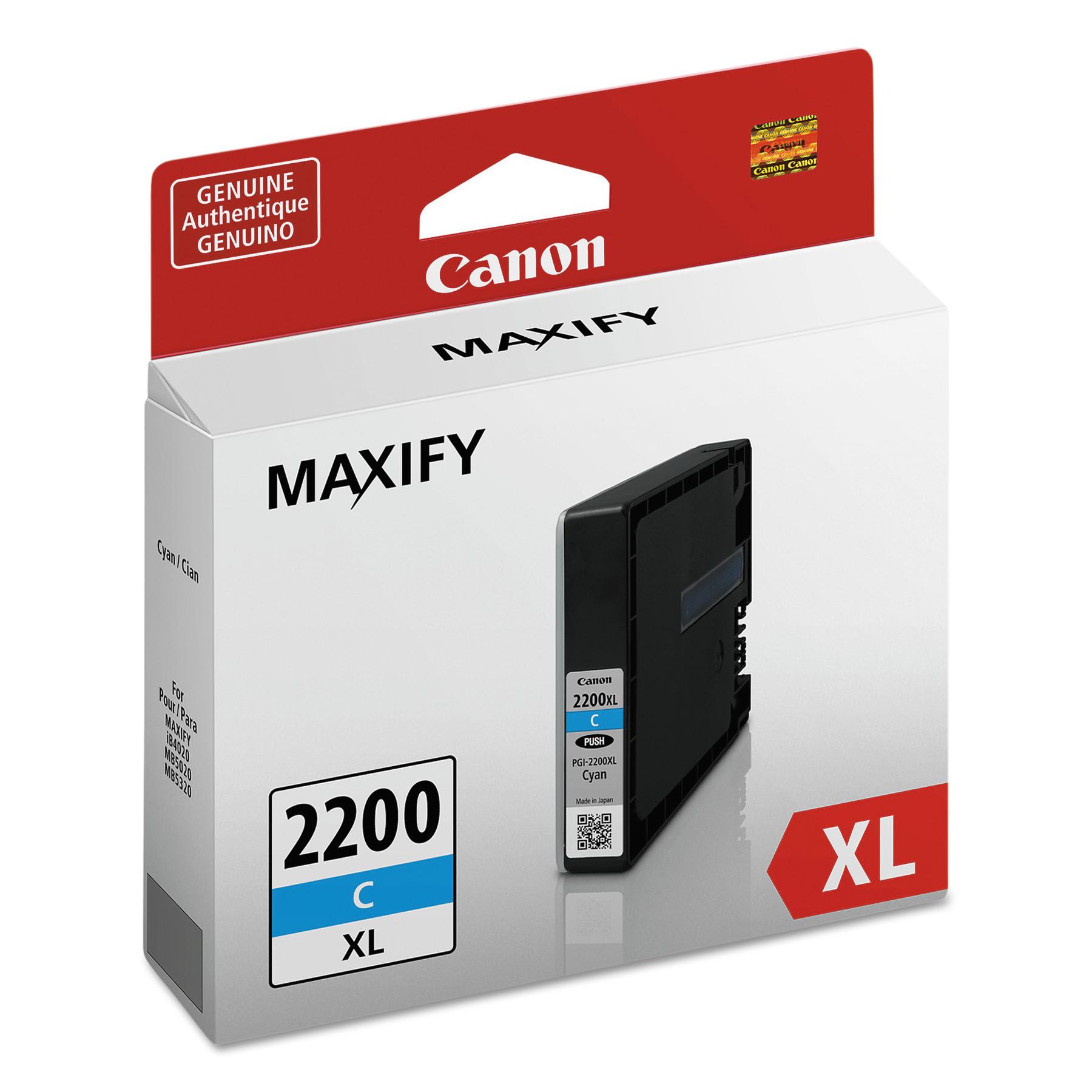 Canon 9268B001 (PGI-2200XL) High-Yield Ink, Cyan