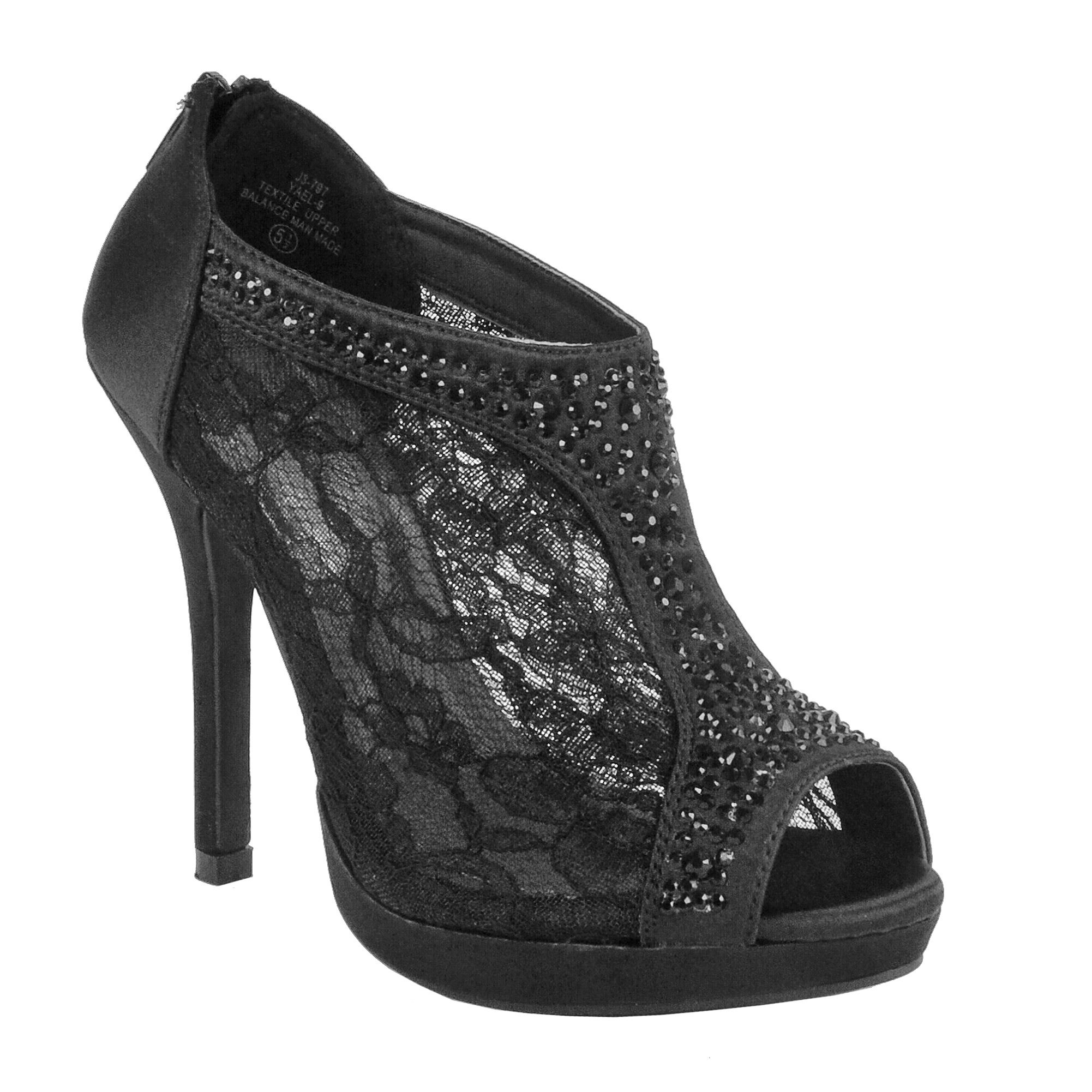 Women's Lace Bridal High Heel Platform Peep Toe Shootie (FREE SHIPPING)