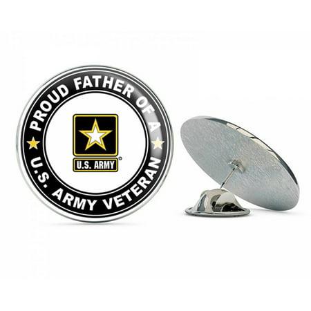 U.S. Army Veteran Proud Father Metal 0.75