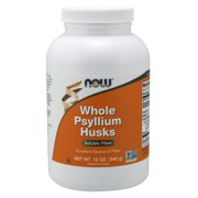 NOW Supplements, Whole Psyllium Husks, Non-GMO Project Verified, Soluble Fiber, 12-Ounce