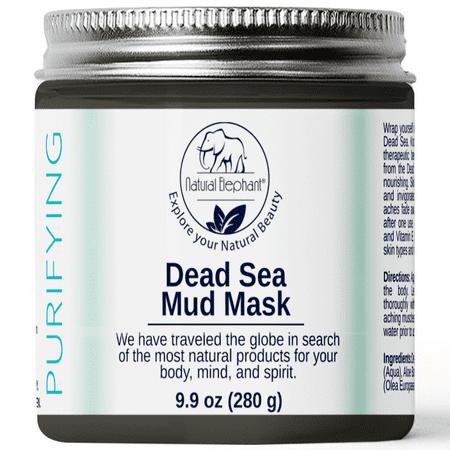 Natural Elephant Dead Sea Mud Mask 9.9oz Jar (Pure Body Naturals Dead Sea Mask Review)