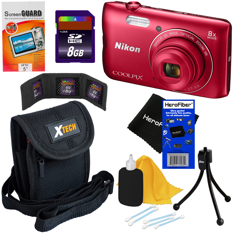 Nikon COOLPIX A300 20.1 MP Digital Camera with 8x Zoom NI...