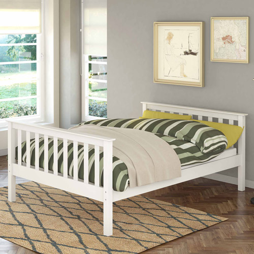 Corliving Monterey Solid Wood Full Bed Multiple Colors Walmart Com