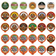 Perfect Samplers CUSTOM VARIETY PACK Decaf Flavored Coffee Pods for Keurig K Cup Brewers - 30 Assorted Single-Serve Capsules in Sampler Pack