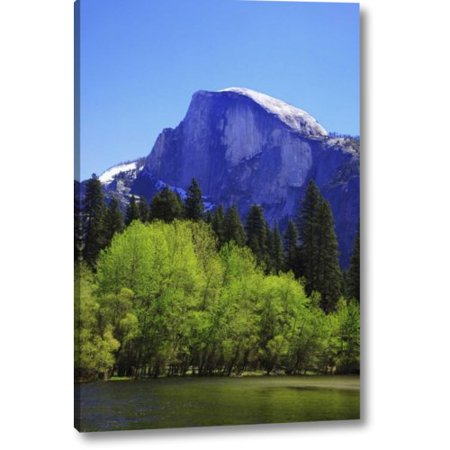 Millwood Pines 'CA, Yosemite Half Dome Rock and Merced River' Photographic Print on Wrapped Canvas