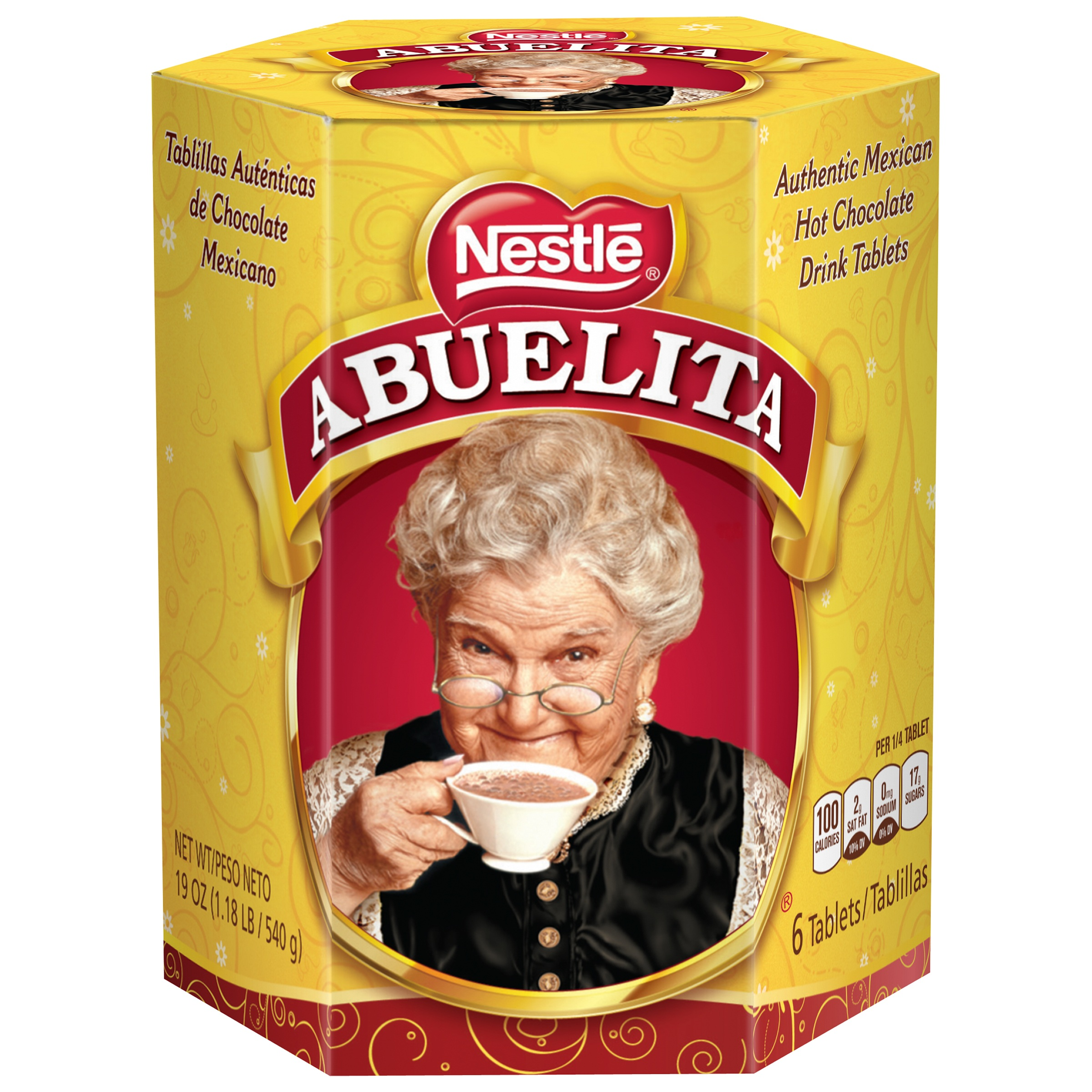 Image of Nestle ABUELITA Authentic Mexican Hot Chocolate Drink Tablets 19 oz. Box