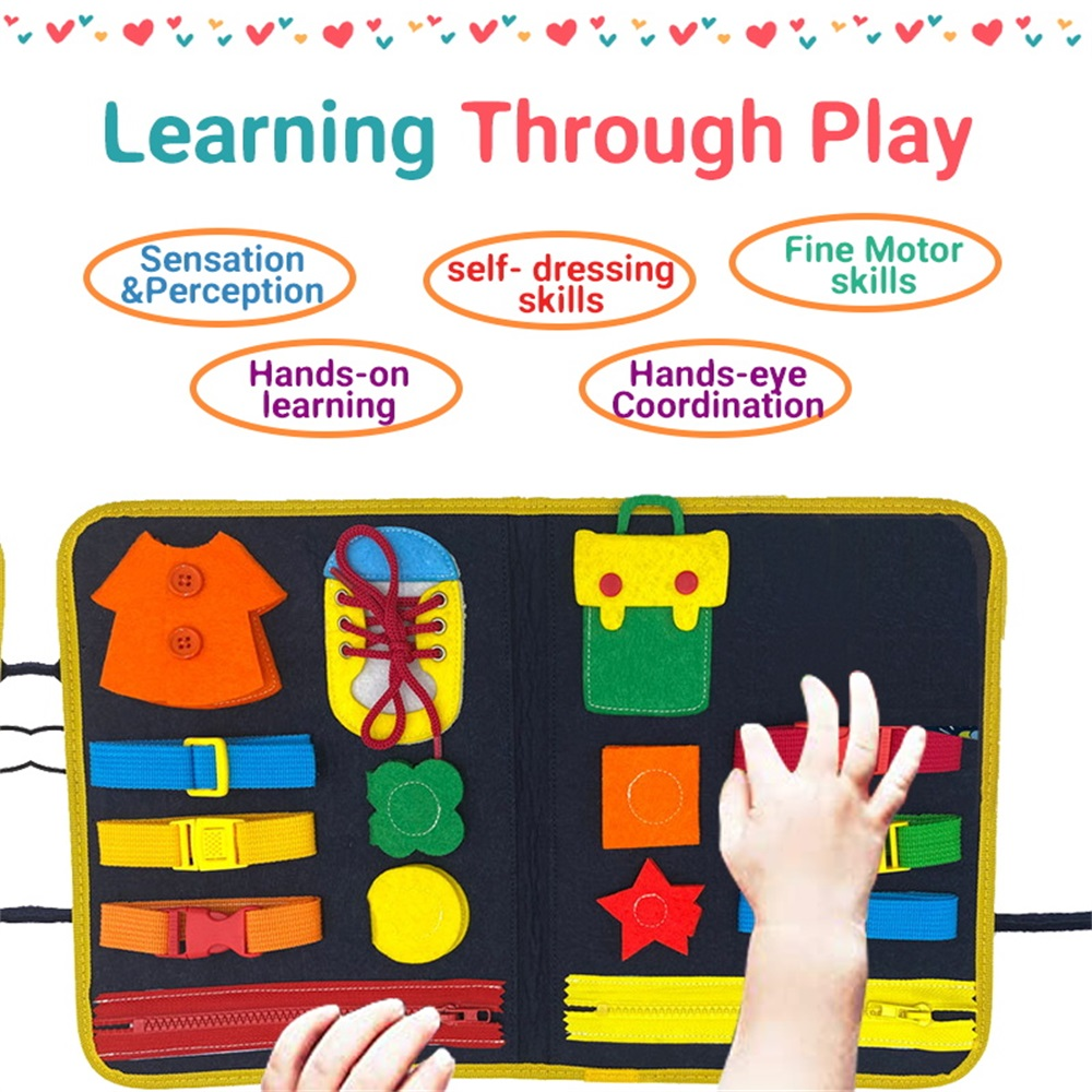 MEDIUM colored travel busy board with cars Activity Board Sensory Fine motor skills for toddlers /& babies Montessori Wooden toy