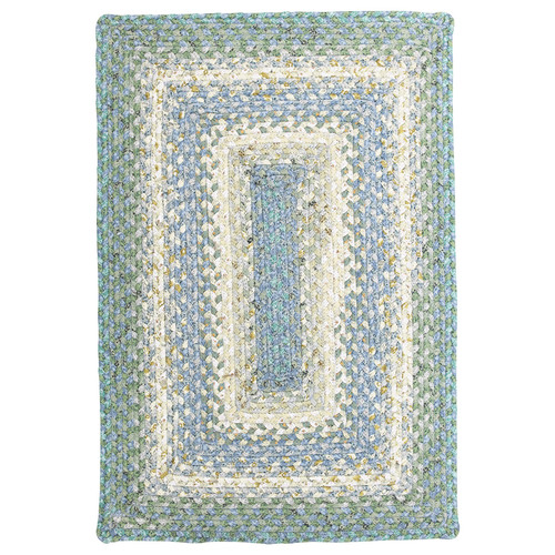 Homespice Baja Blue Braided Rectangle Rug - (5 foot x 8 foot)