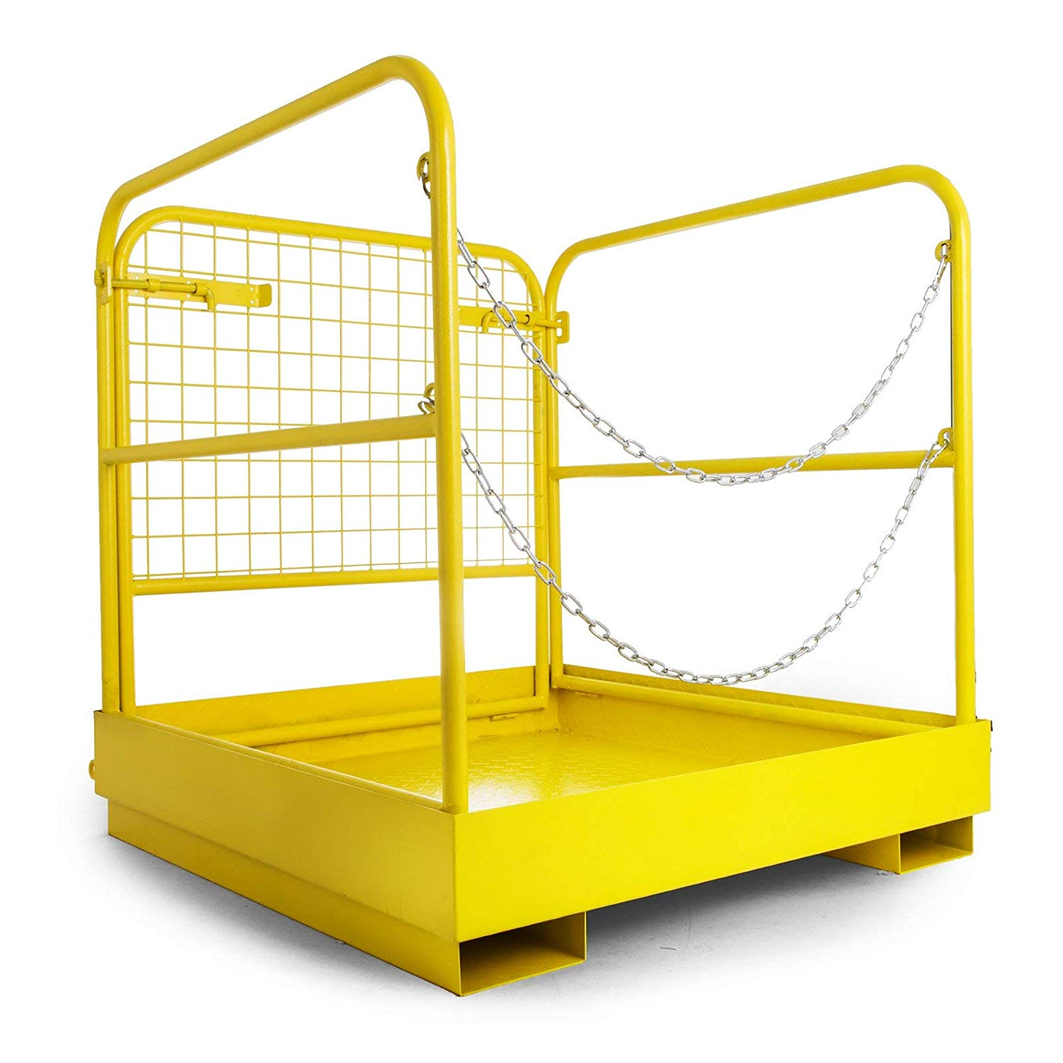 """749 lbs Capacity  36/""""x36/"""" Forklift Safety Cage Steel Work Platform Heavy Duty"""