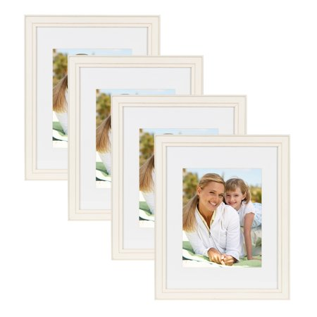 DesignOvation Kieva Solid Wood 11x14 matted to 8x10 Picture Frames ...