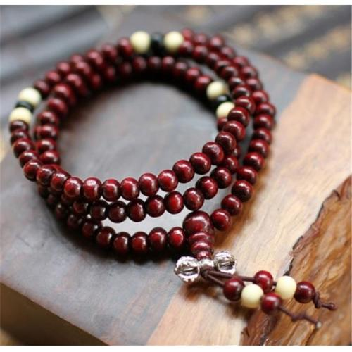 Merit 15950 108 Red Sandalwood Beads Bracelet
