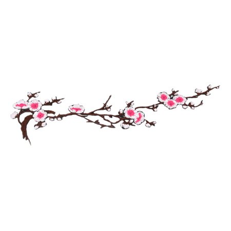 - Unique Bargains Polyester Plum Blossom Design DIY Trimming Hat Decoration Lace Applique Fuchsia