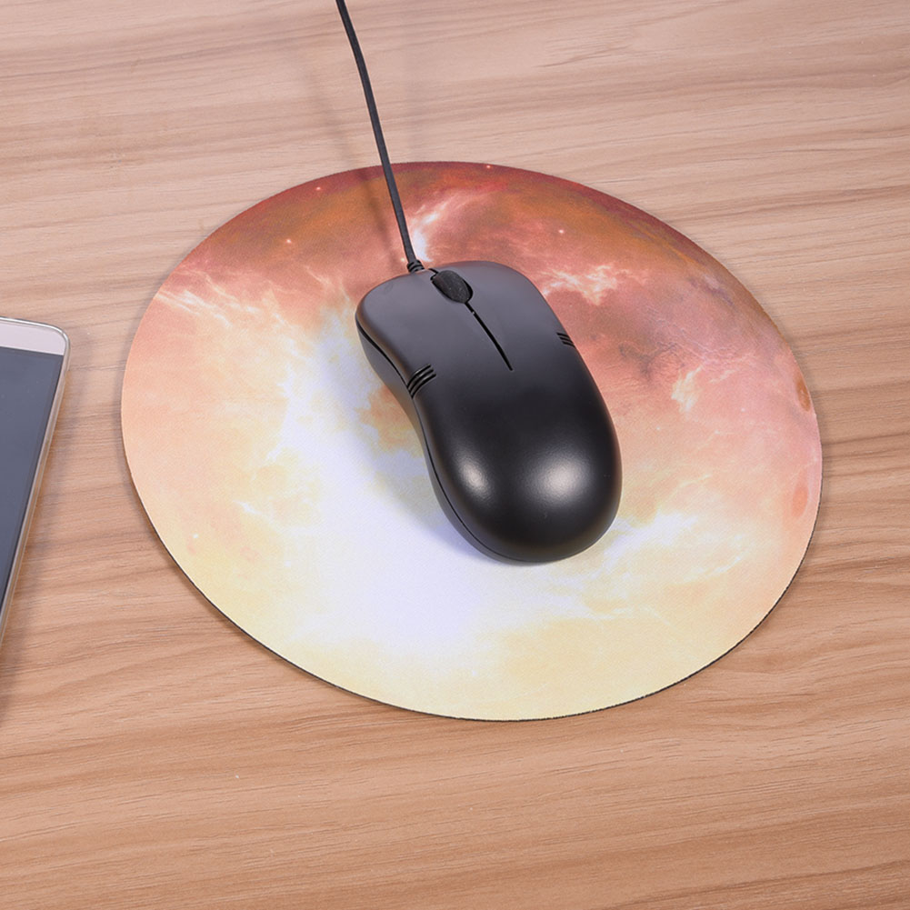 """Yosoo Soft Natural Rubber Planet Series Fashion Design Round Gaming Mouse Pad MousePad 8.66""""×8.66"""", Mouse Mat,  non-slip pad"""