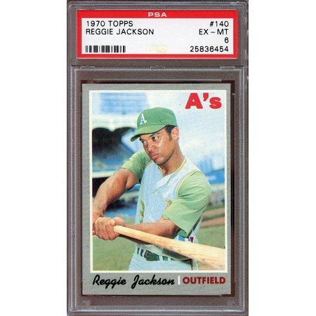 1970 Topps 140 Reggie Jackson Oakland Atheltics 2nd Year Card Psa 6