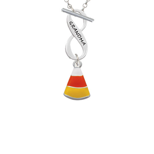 Candy Corn Grandma Infinity Toggle Chain Necklace