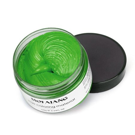 F Club Halloween (Green Instant Hair Color Wax, Qiyuxow Temporary Hair Dye Creme Coloring Material, Quick Dry Easy Wash for Daily use Festivals Parties Stag & Hen Events Clubbing Raves Halloween &)