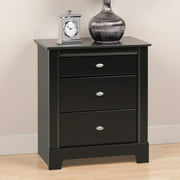 Prepac Kallisto 3 Drawer Nightstand - Black