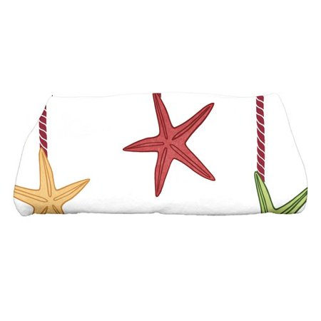 Coastal Bath (e by design Coastal Christmas Starfish Ornaments Bath Towel)