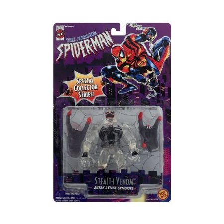 Marvel Spider-Man Special Collector's Series Stealth Venom Black Toy Biz covid 19 (Black Spider Man Venom coronavirus)