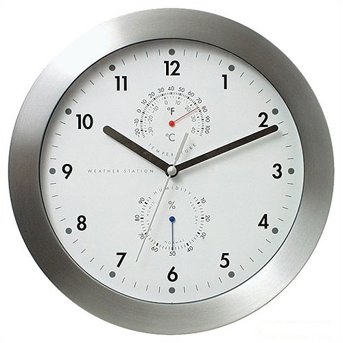Bai Design 11'' Weather Master Weather Station Modern Wall Clock