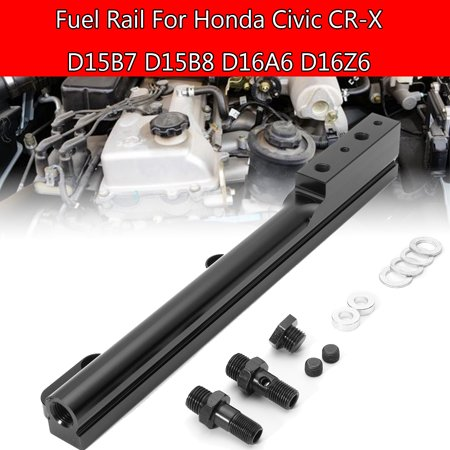 - Black Fuel Rail Kit for Honda Civic CR-X D15B7 D15B8 D16A6 D16Z6 Replacement Auto Parts