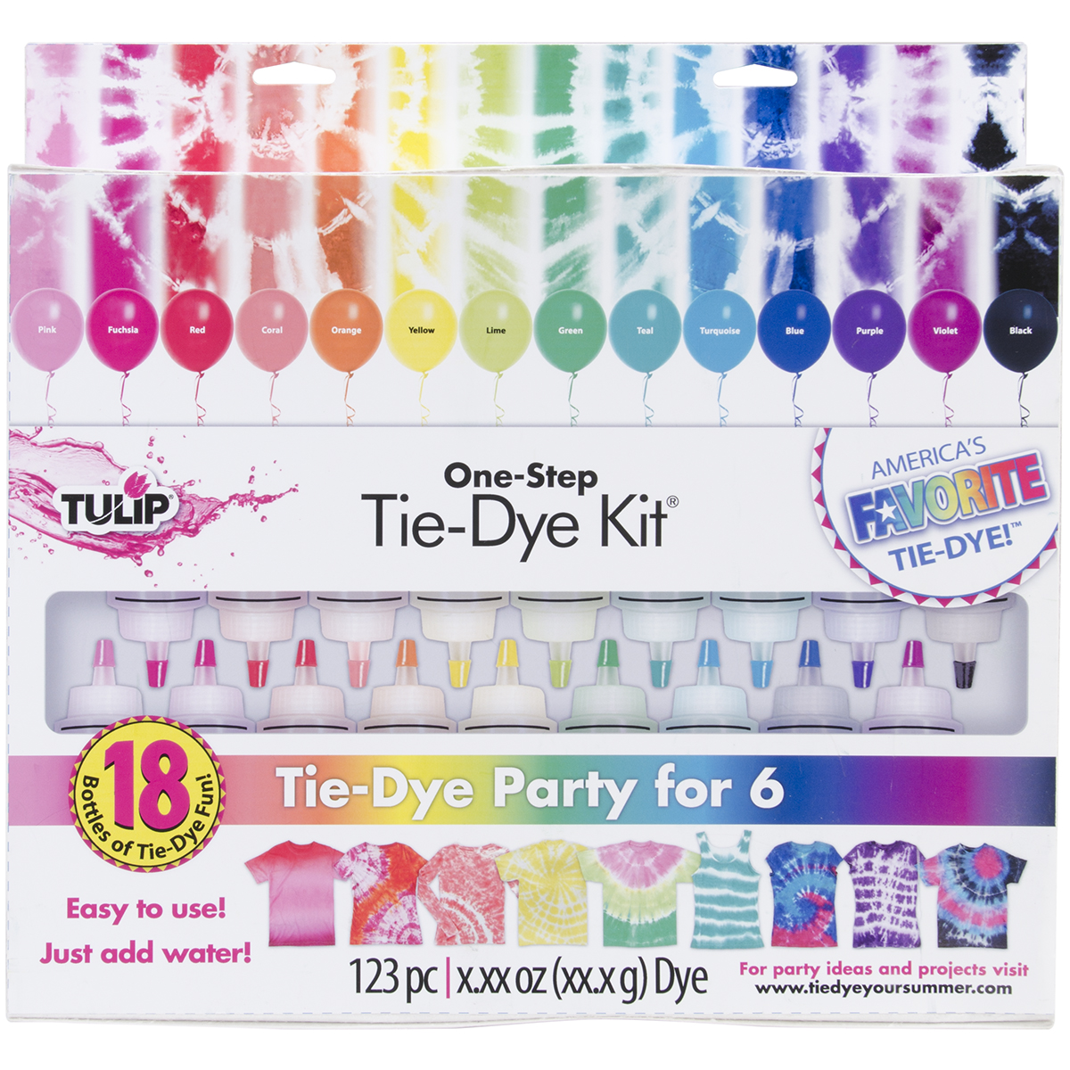 Tulip One-Step 18-Color Tie Dye Kit