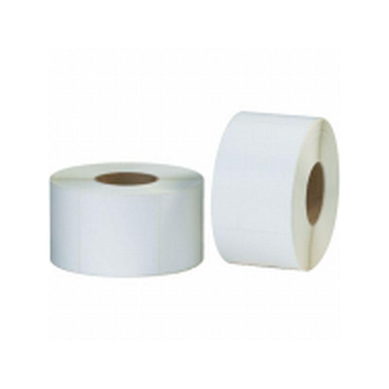 BOX Packaging White Direct Thermal Labels, White, 4 Rolls/Case