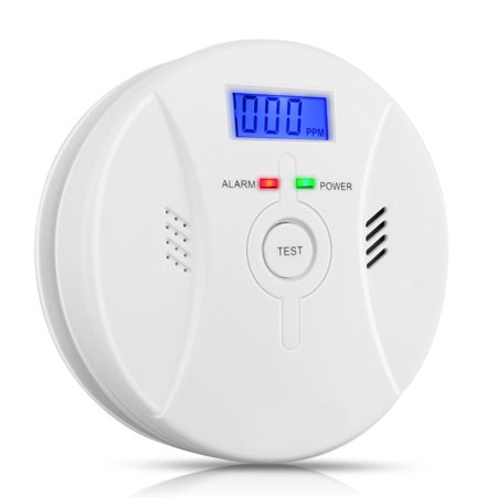 Carbon Monoxide&Smoke Alarm,Profession Home Safety CO Carbon Monoxide Poisoning Smoke Gas Sensor Warning Alarm Detector LCD Displayer Dining room Kitchen  Office ()
