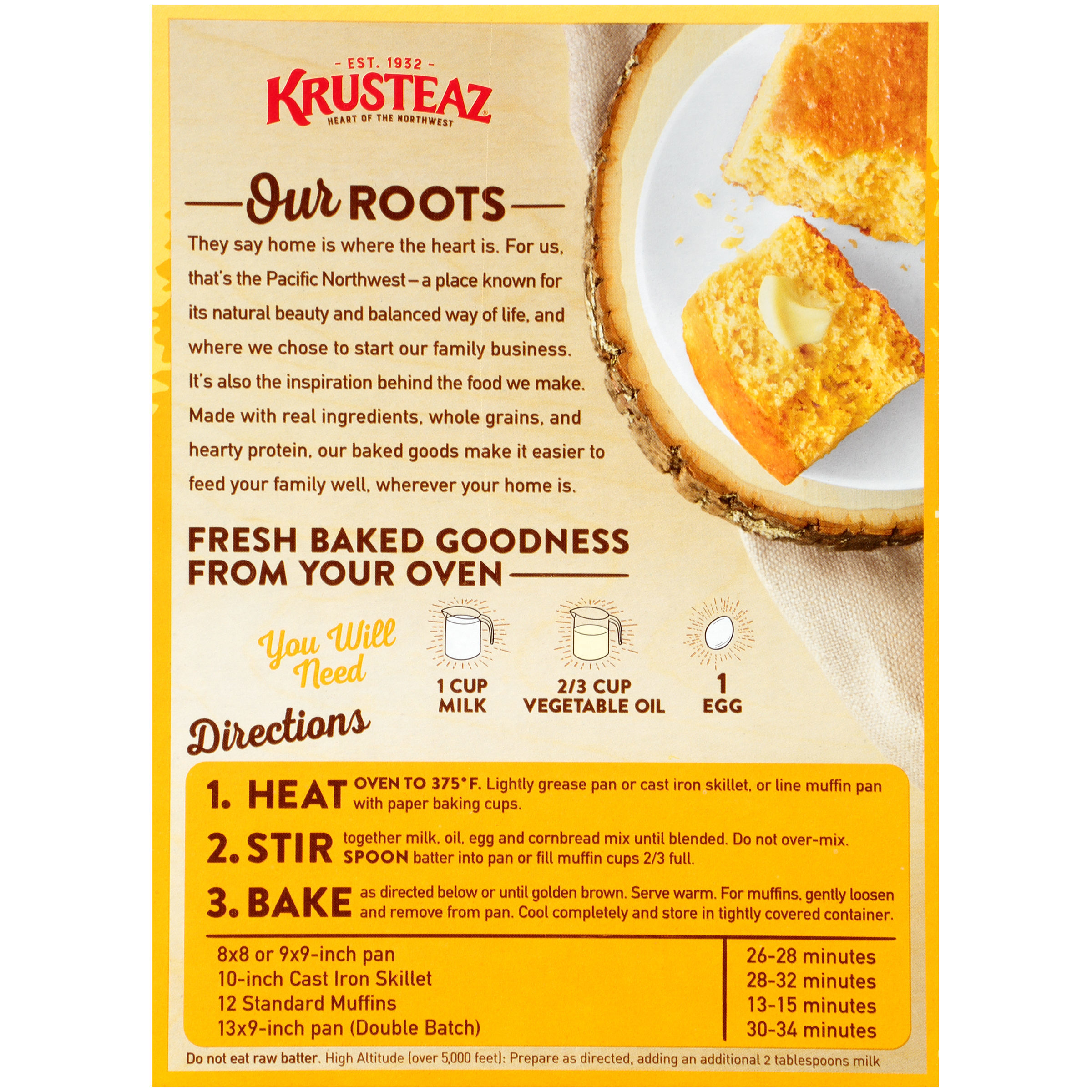 Krusteaz® Protein Traditional Cornbread Mix 17 oz. Box - Walmart ...