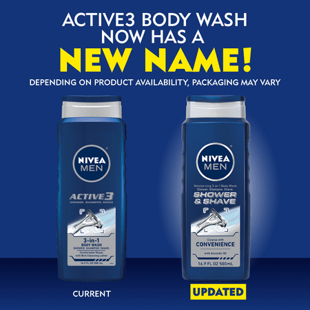 Best NIVEA Men Shower and Shave 3-in-1 Body Wash 16.9 fl. oz. deal