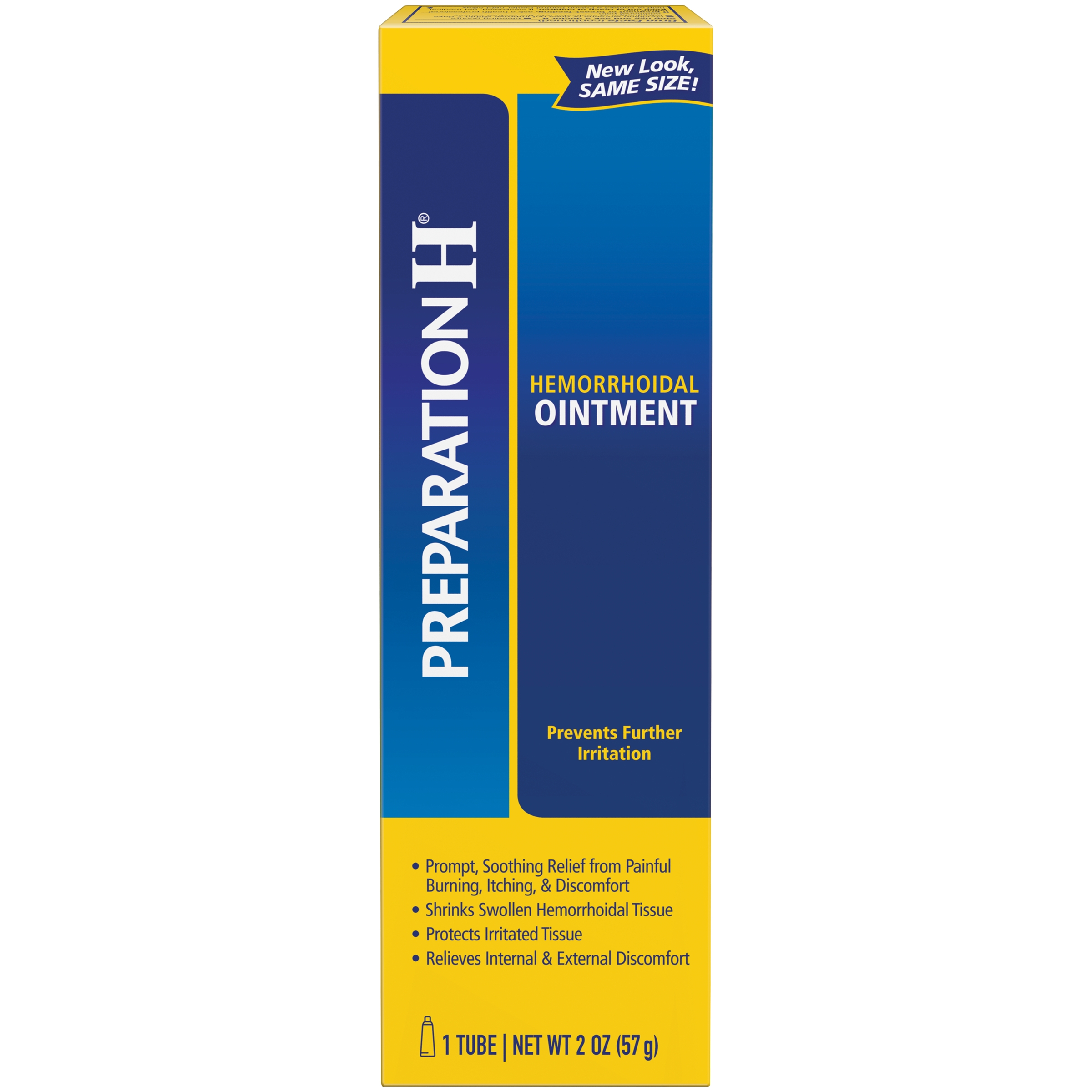 Preparation H Hemorrhoid Symptom Treatment Ointment, Itching, Burning and Discomfort Relief, Tube (2.0 Ounce)
