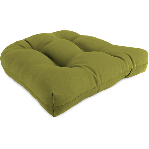 "Jordan Manufacturing 18"" x 18"" x 4"" Outdoor Wicker Chair Cushions, 1-Pack, Veranda Kiwi"