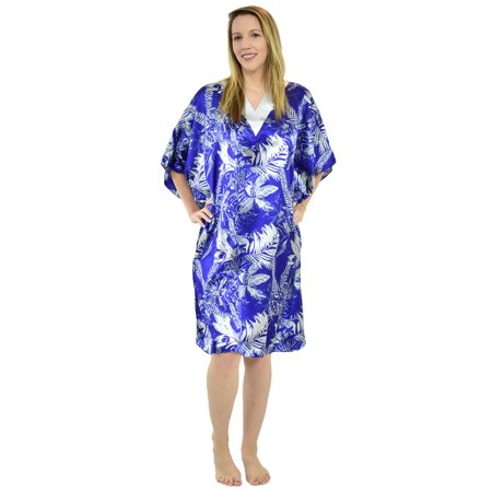 Up2date Fashion's Women's Short Caftan / Kaftan / Muumuu / Mumu, Tropical Sapphire (Sleeveless Muumuu)