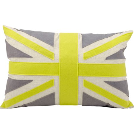 Nourison Union Jack British Flag Decorative Felt Pillow