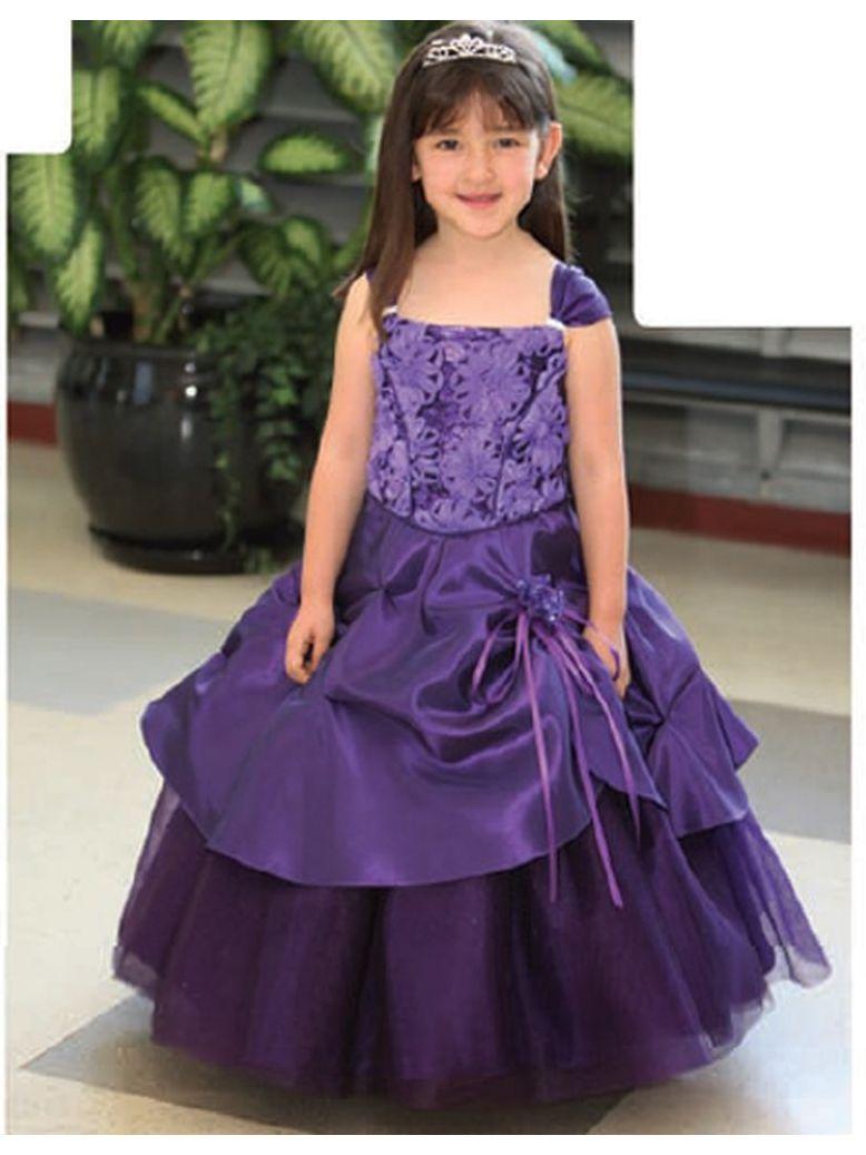 Angels Garment Toddler Girls Purple 4T Flower Girl Dress