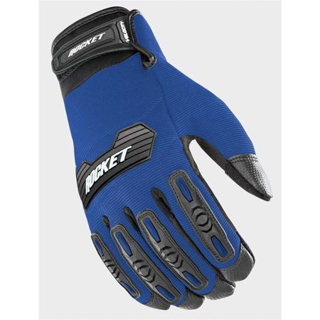 Velocity 2.0 Men's Textile Street Motorcycle Gloves - Blue/Black / X-Large, Textile Black fingers Full Helmet Gloves HiVis Street Qualifier 50 Jacket Glove.., By Joe Rocket Ship from US - Finger Rockets