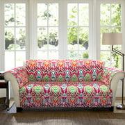 Jaipur Ikat Furniture Protector, Fuchsia Sofa Couch Cover
