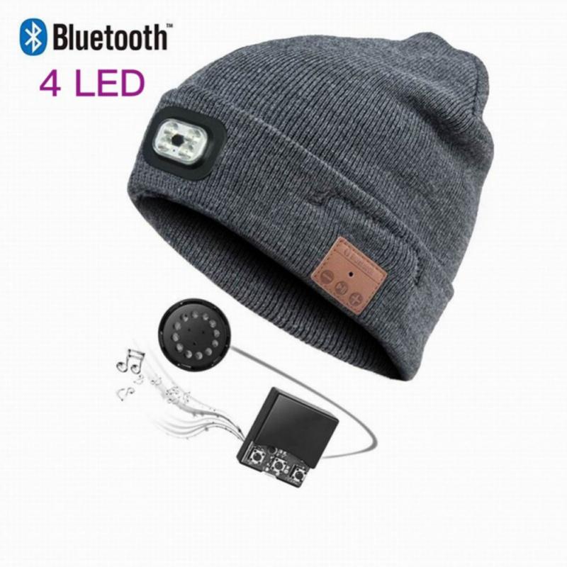 Bluetooth Wireless Smart Headset Headphone Speaker Hat Speakerphone Cap Headphone Speaker Mic
