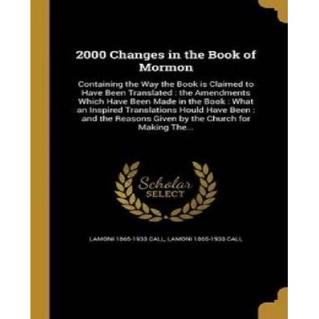 2000 Changes in the Book of Mormon - image 1 of 1