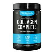 Phi Naturals Collagen Complete Powder Supplement Advanced Collagen Formula with Hydrolyzed Collagen Types