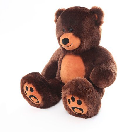 WOWMAX Giant Teddy Bear Danny Cuddly Stuffed Plush Animals Danny Teddy Bear Toy Doll for Birthday Christmas Dark Brown 10 - Cool Glow In The Dark Stuff