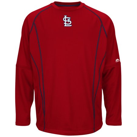 St. Louis Cardinals Majestic MLB Authentic On-Field Crew Pullover Sweatshirt by