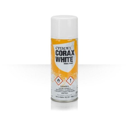 Warhammer 40K Citadel Corax White Model Paint, Primer - Corax White By Games
