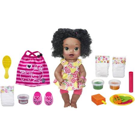 Baby Alive Super Snacks Snackin Sara   Black Hair