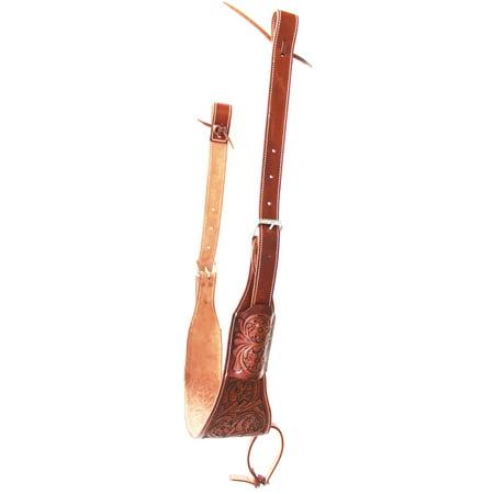 Western Carved Leather Rear Flank Cinch Girth Saddle Billets 9772DT