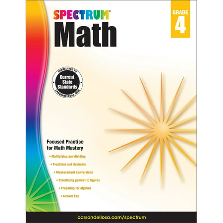 Spectrum Spectrum Math Workbook, Grade 4 160 pages