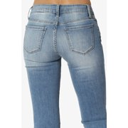 0f26fb0de1f TheMogan Women's Mid Rise Slim Fit Bootcut Jeans in Soft Stretch Light Blue  Denim Image 5