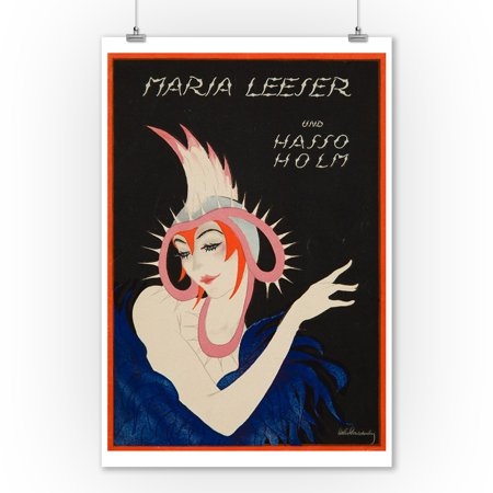 Maria Leeser und Hasso Holm (cover) Vintage Poster (artist: Schnackenberg, Walter) Germany c. 1921 (9x12 Art Print, Wall Decor Travel Poster)