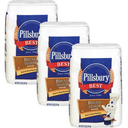 Pillsbury Bread Flour 5 lb (Pack of 3)