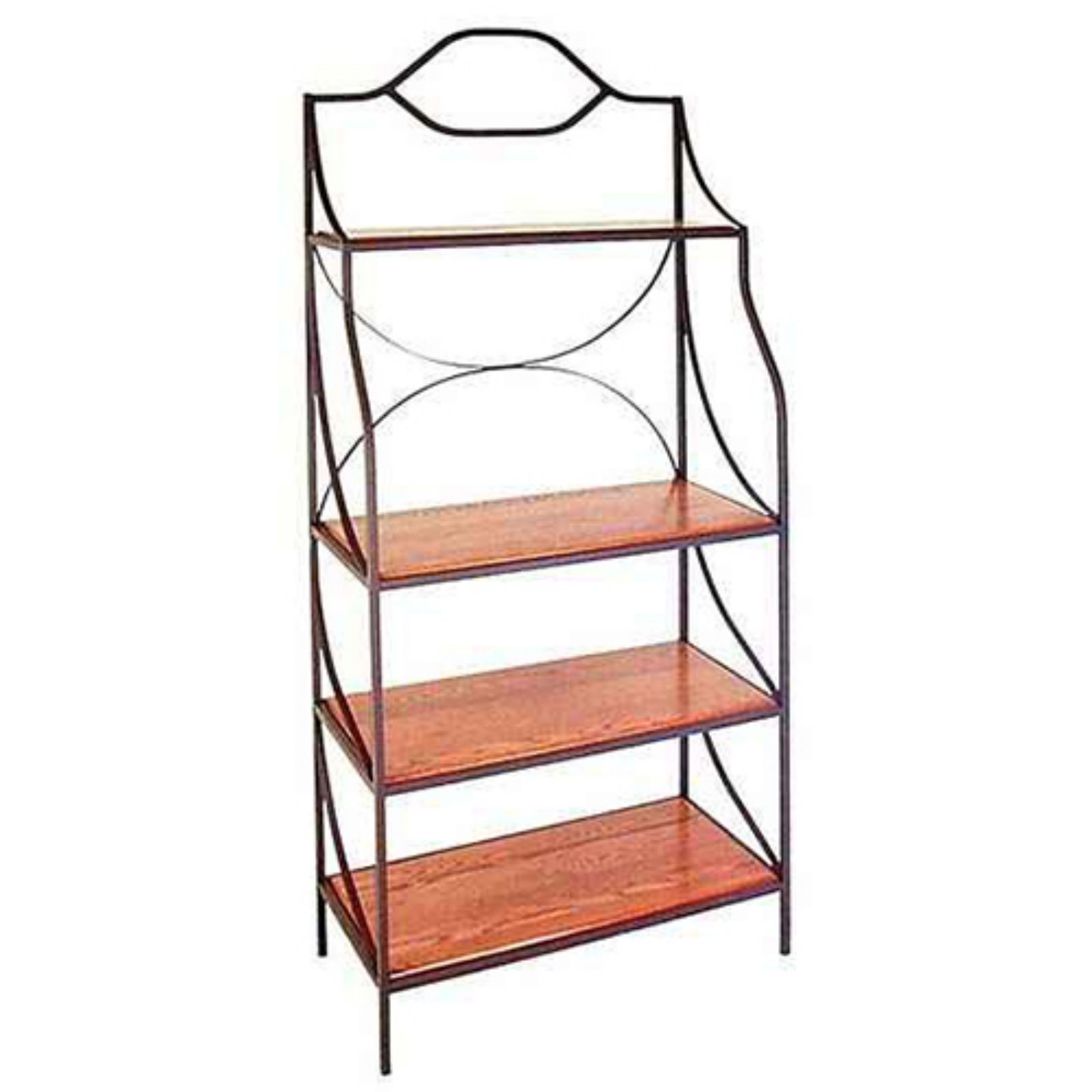 Grace Manufacturing Contemporary Backers Rack with Wooden Shelves